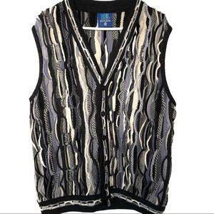 Vintage Limnos 3D Textured Coogi Like Sweater Vest